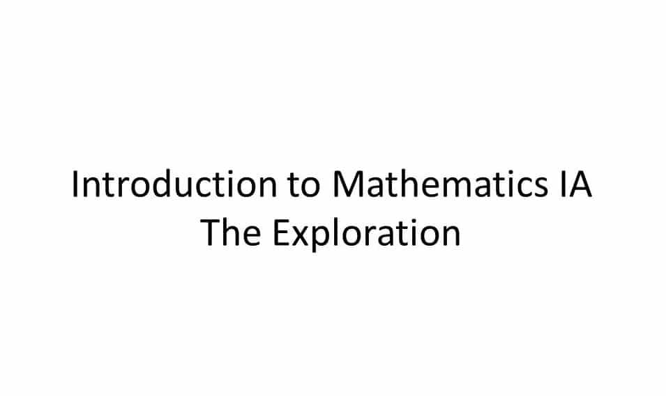 ib math exploration ib math expo